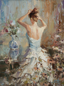 """Lady"" by Steve Henderson, is available as an open edition print throught Light in the Box"