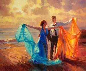Evening Waltz, original oil painting, 30 x 36, by Steve Henderson